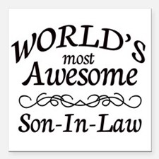 """Awesome Square Car Magnet 3"""" x 3"""""""