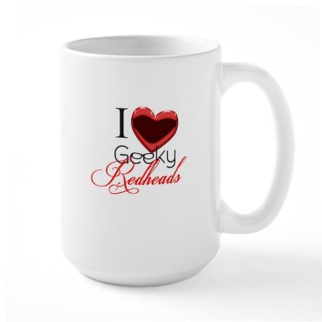 I love Geeky Redheads Large Mug