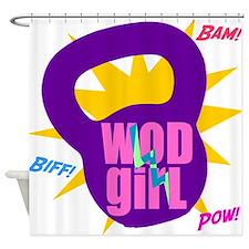 WODGirl Kettlebell Shower Curtain
