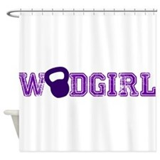 WODGirl - Kettlebell Shower Curtain