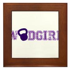 WODGirl - Kettlebell Framed Tile