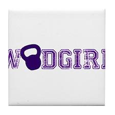 WODGirl - Kettlebell Tile Coaster