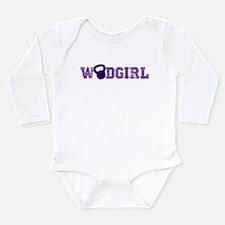 WODGirl - Kettlebell Long Sleeve Infant Bodysuit