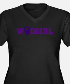 WODGirl - Kettlebell Women's Plus Size V-Neck Dark