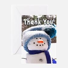Cute Handmade Snowman Greeting Card