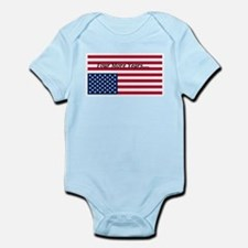 Four More Years of Obama - distress flag Infant Bo
