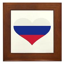 Slovakia flag heart Framed Tile