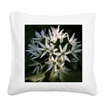 Wild Garlic Flowers Square Canvas Pillow