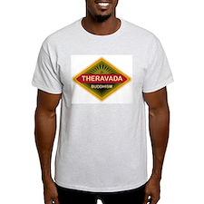 Theravada Buddhism Ash Grey T-Shirt