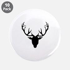 "Deer antlers 3.5"" Button (10 pack)"