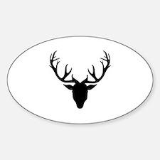 Deer antlers Sticker (Oval)