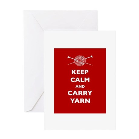 Keep Calm Carry Yarn Greeting Card