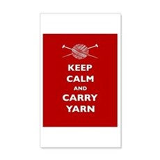 Keep Calm Carry Yarn Wall Decal