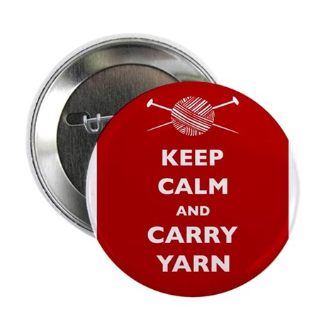 """Keep Calm Carry Yarn 2.25"""" Button (100 pack)"""