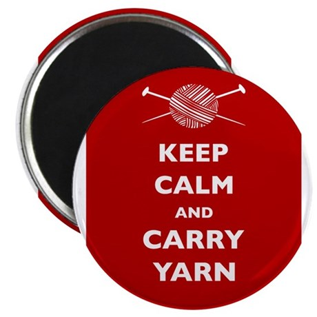 Keep Calm Carry Yarn Magnet