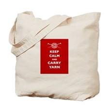 Keep Calm Carry Yarn Tote Bag
