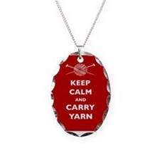 Keep Calm Carry Yarn Necklace