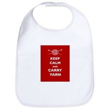 Keep Calm Carry Yarn Bib