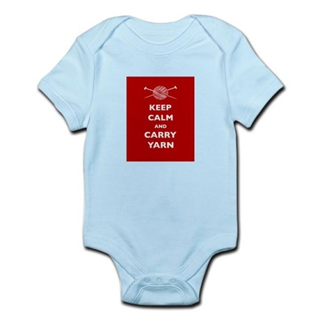 Keep Calm Carry Yarn Infant Bodysuit