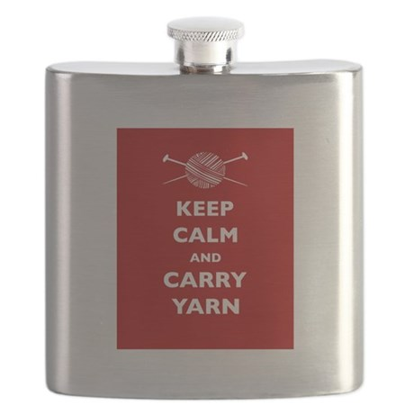 Keep Calm Carry Yarn Flask