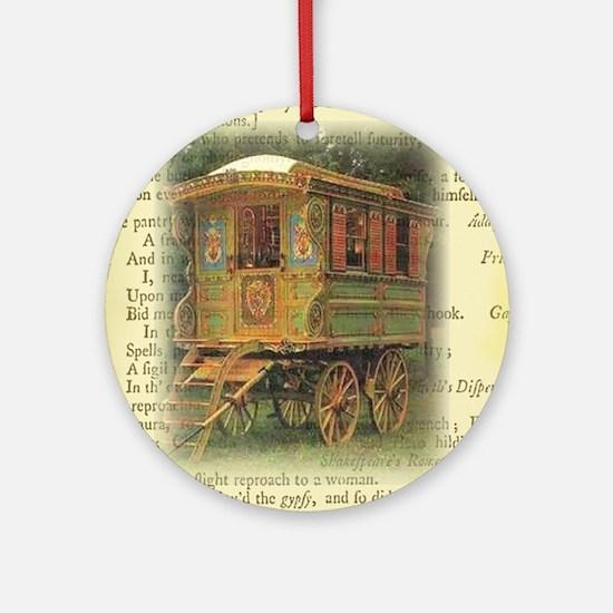 gypsy wagon 2 Ornament (Round)