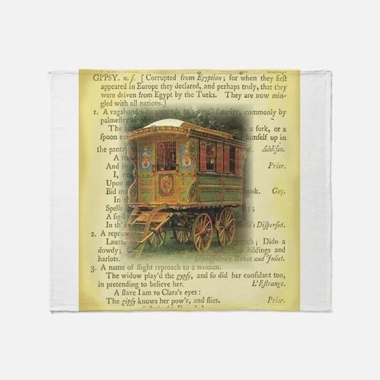 gypsy wagon 2 Throw Blanket