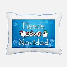 Fleece Navidad Rectangular Canvas Pillow