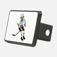 Sock Monkey Ice Hockey Player Hitch Cover
