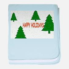 Happy Holidays baby blanket