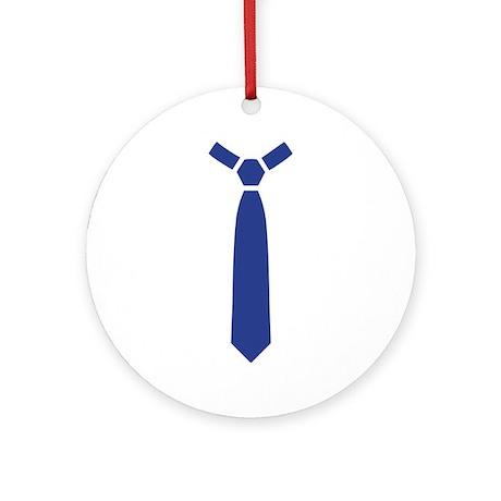 Blue tie Ornament (Round)