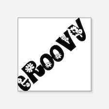 "Groovy Square Sticker 3"" x 3"""