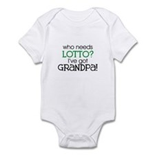 Who needs lotto? (Grandpa) Infant Creeper