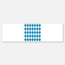 Bavaria flag pattern Bumper Bumper Sticker
