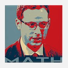 "Nate Silver - ""MATH"" Tile Coaster"