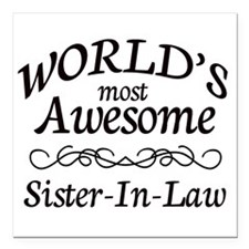 "Awesome Square Car Magnet 3"" x 3"""