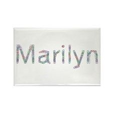 Marilyn Paper Clips Rectangle Magnet