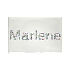 Marlene Paper Clips Rectangle Magnet