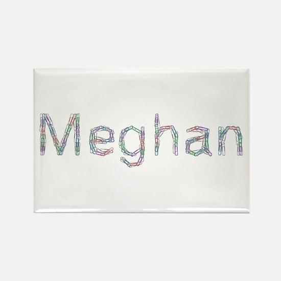 Meghan Paper Clips Rectangle Magnet