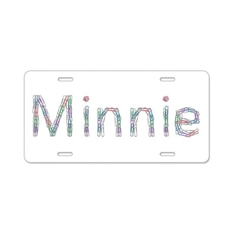 Minnie Paper Clips Aluminum License Plate by namestuff
