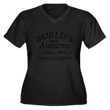 Awesome Women's Plus Size V-Neck Dark T-Shirt