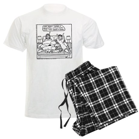 On The Bed Men's Light Pajamas