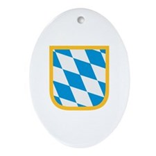 Bavaria flag Ornament (Oval)