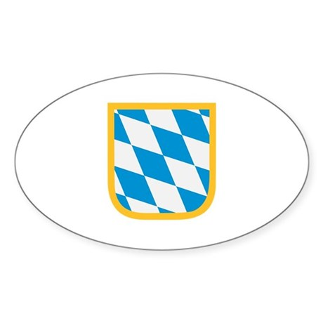 Bavaria flag Sticker (Oval 10 pk)