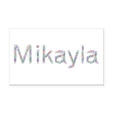 Mikayla Paper Clips Retangular Car Magnet