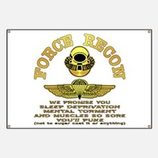 Force Recon We Promise Banner
