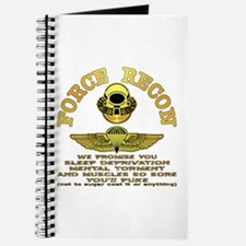 Force Recon We Promise Journal