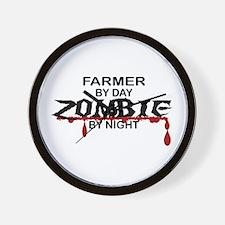 Farmer Zombie Wall Clock