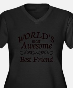 Awesome Women's Plus Size V-Neck Dark T-Shirt