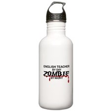 English Teacher Zombie Water Bottle