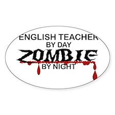 English Teacher Zombie Decal